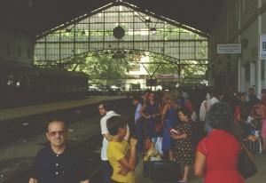 Bahnhofsszene in Malaga 1980