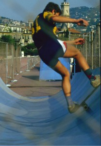 Skater in Halfpipe Nizza 79