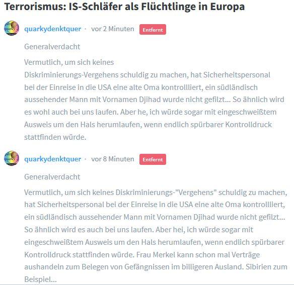 Die Wahrheit hat es bei Leserkommentaren immer noch schwer auf Welt.de