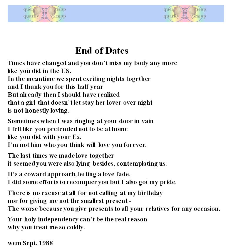 End Of Dates